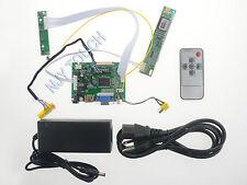 PCB800099 HDMI+VGA+2AV+Remote LCD LVDS Controller Board DIY Kit + Power Adapter
