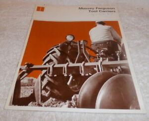 Vintage 1967 Massey Ferguson Tool  Carriers