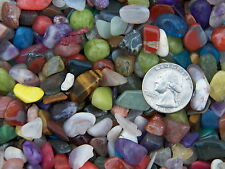 500 Carat Lots of Size #2 Tumbled Polished Gemstones + A Free Faceted Gemstone