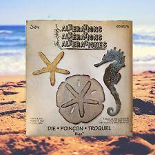 Sizzix Retired Tim HoltzBigz SAND & SEA # 659576 Seahorse Sanddollar Star Fish