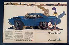 1968 Plymouth Roadrunner MOPAR Hot Rod print  Salt Flats car ad gift 1969