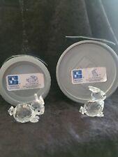 Swarovski Crystal Small Rabbit Figurines #7678/Nr30 & Nr40