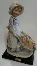 Gorgeous Armani 1986 Florence Italy Capodimonte Girl W/ Flowers Figurine Statue