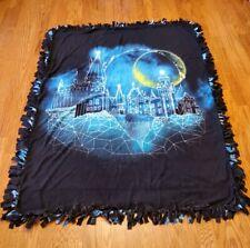 Harry Potter Hogwarts Moon Fleece Tie Blanket