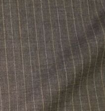 Gray Wool Suiting with White & Tan Pinstripes - Classic Favorite!