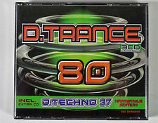 CD-Box: D.Trance 80 incl. D.Techno 37 Hardstyle Edition, 4 CDs