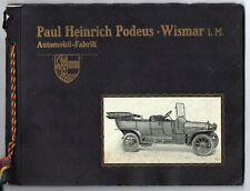 und Lastwagen Sportphaeton Wismar Braunbeck Motor Platte A2 571 Podeus Luxus