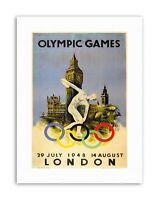 SPORT ADVERT WINTER OLYMPIC GAMES 1948 ST MORITZ SUN SNOW POSTERPRINT BB7420B
