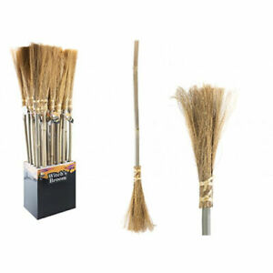 Witches Broom - Halloween Costume Fancy Dress Kids Adults Broomstick Trick Treat