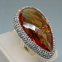 Turkish Handmade Jewelry 925 Sterling Silver Alexandrite Stone Women Ring Sz 7