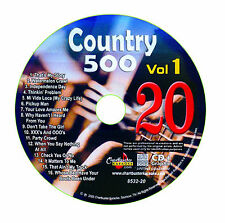 KARAOKE CHARTBUSTER CD+G COUNTRY 500 CB8532 VOL.1 DISC # 20