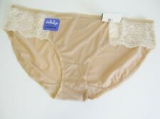 3 Bali Satin Indulgence Lace Bikini Panty Nude w/Light Beige 2829 Sz 9/2XL - NWT