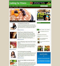 COOKING FOR FITNESS WEBSITE FOR SALE + FREE HOSTING UK AFFILIATE STORE & BANNERS