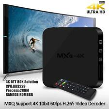 MXQ-4K Smart Android Tv Box Plug and Play Pre-Programmed