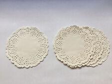 50 Stück Papier Tassenuntersetzer Tasse Tropfschutz Mini Tortenspitze weiß