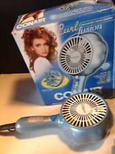 Conair Fusion Ionic Dryer 2 Heat Speeds No Lift Attachment For Curly Hair New