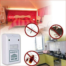 White Plus Electronic Ultrasonic Pest Control Repeller Spiders Rats Us Style
