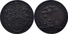 Rechenpfennig 1686 Belgien Brabant Brüssel Ungarn Carl II. von Spanien #EA106