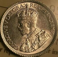 1930 CANADA SILVER 10 CENTS COIN - ICCS MS-63