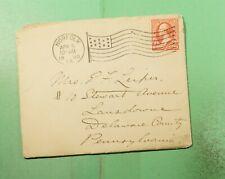 1900 NORFOLK VA FLAG CANCEL USS ESSEX NAVY SHIP LETTER SEE PHOTO