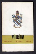 WILMSLOW & DISTRICT OFFICIAL STREET PLAN c1970 inc Handforth Styal Dean Row