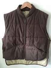 Vintage REFRIGIWEAR Mens Size L Brown Insulated Winter Work Vest Zipper