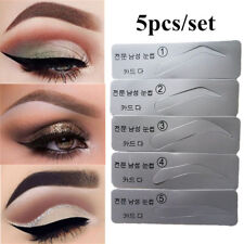 5Pc Eyebrow Template Stencils Brow Grooming Card Trimming Shaping Beauty Tool Wo