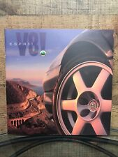 1990s Lotus Espirit V8 Elise Sales Brochure Foldout Catalogue