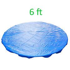 6FT Trampoline Universal Rain Dust Cover Weatherproof Guard Blue