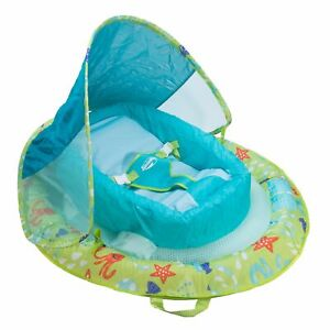 NEW Swimways Infant Baby Spring Float with Canopy - Green