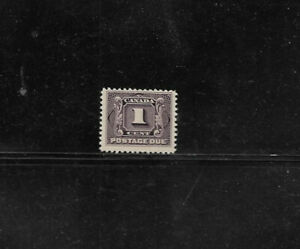 Canada # J1 MNH 1¢ Postage Due Stamp- Issued in 1906 - Scott CV$40