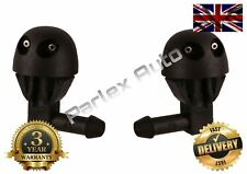 PAIR OF (LEFT/RIGHT SIDE) Peugeot 206 Windscreen Washer JETS Nozzles