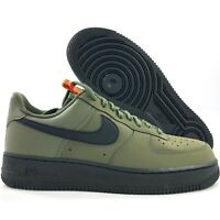 Nike Air Force 1 '07 Low Medium Olive Green Black Orange BQ4326-200 Men's 10.5