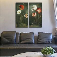 Framed Abstract Canvas Print Home Decor Wall Art Flowers Painting Picture Poster