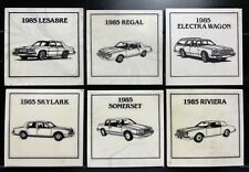 Vintage 1985 Buick Coasters Square Slate Lot of 6