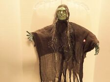 VINTAGE GEMMY SCREAMING-TALKING- ARMS MOVE WITCH TOY- EYES FLASH RED-VERY RARE