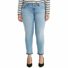 MSRP $60 Levi's Ripped Plus Size Skinny Ankle Jeans Blue Size 22W