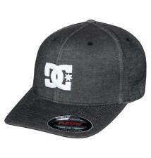 """DC """"CAPSTAR TX"""" MENS FLEXFIT CAP. BLACK (kvj0)"""
