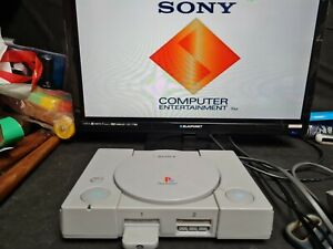 Sony Playstation 1 Ps1 Original Console Bundle 5 Games Controller Tested Working