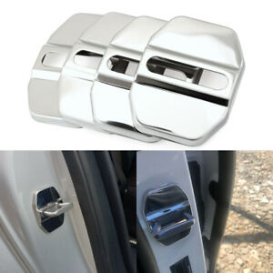4PCS Accessories Decorative Stainless Steel Car Door Lock Protective Auto Cover