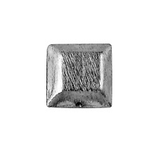 Black Rhodium Overlay Square Shape Brushed Bead BR-203-10MM
