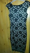 New Jane Norman Black and Cream Lace dress - Size 10