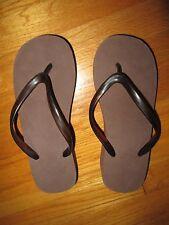 Womens Brown Platform Open Toe Flip Flop Sandals - Size M (7-8) 2 Inch Platform