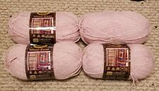 Lot of 4 Lion Brand Wool-Ease Blush Heather Color 104 Acrylic/Wool 800 yd Skein