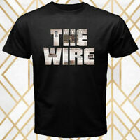 THE WIRE TV Series Logo Men's Black T-Shirt Size S - 3XL