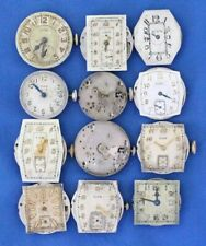 Vintage Elgin Mens Wrist watch Movements Lot- 15 Jewels / parts repair