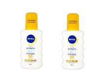 Nivea Protect And Sensitive­ With Spf 50, High - 200ml (SET OF 2)