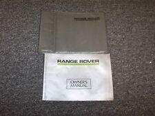1987 Land Rover Range Rover Owner Owner's Operator User Guide Manual 3.5L V8