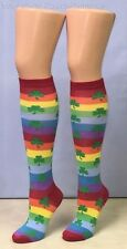 Leg Avenue Women's Rainbow Clover Knee Highs Socks - Multi-Color