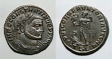IMPERIO ROMANO.   CONSTANTINO I.  TESALÓNICA.  AE. FOLLIS.  .TS.€.     MBC+